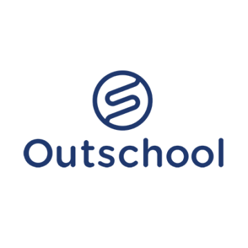Outschool logo blue stacked
